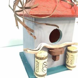 Coastal Vineyard Handpainted Birdhouse Home Decor